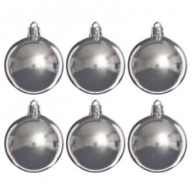 Шары СНОУ БУМ, 60мм, 6шт., серебро 375-085