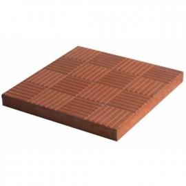 Плитка тротуарная Паркет 300*300*30мм красная 11шт/м2