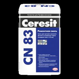 Смесь Церезит CN83 для срочного ремонта бетона и устройства стяжек, 25кг