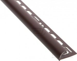 Раскладка для кафеля внешняя Salag темно-коричневая, 7мм.
