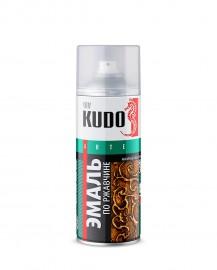 Эмаль по ржавчине молотковая KUDO 3008 серебристо-коричневая, 520 мл.