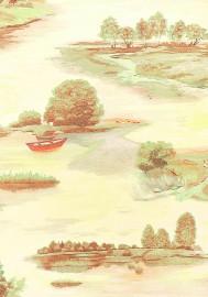 Обои Village 1272-3  виниловые на бумажной основе (0,53*10,05м)Эрисманн