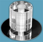 Светильник галогенный 806-12 цилиндр G4 12V 20W стекло, хром.