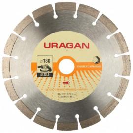 Диск отрезной URAGAN алмазный 180*22,2 сегментный для УШМ