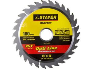 Диск пильный STAYER MASTER OPTI-Line 190*30мм 36Т по дереву