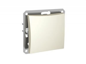 Выключатель 1-клавишный Дуэт LEXEL бежевый кнопочный SE WDE000217