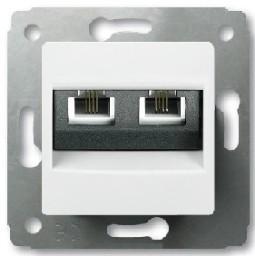 Механизм розетки CARIVA RJ-11 2-м белый Leg773639 телефон